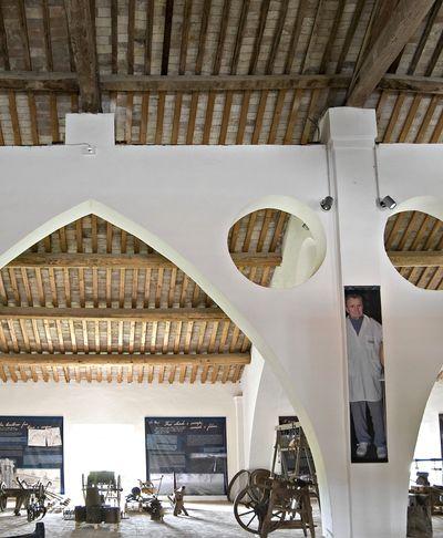 Sala interna del Mupac Museo di paesaggi di terra e di fiume a Colorno