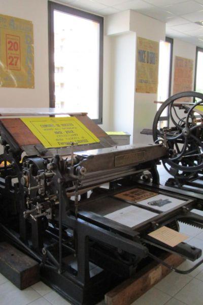 Interno del Museo della tipografia Libassi a Noceto