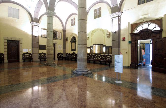 Palazzo dell'Università sala delle colonne