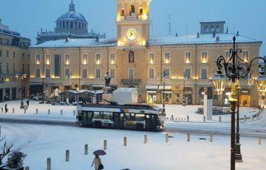 Piazza Garibaldi neve