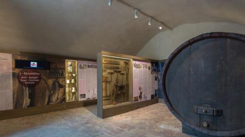 Interno del Museo del Vino a Sala Baganza