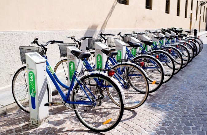 Le biciclette del Bike sharing a Parma